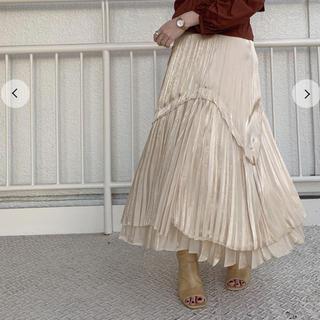 snidel - 完売品シャイニープリーツスカート SNIDELスナイデル
