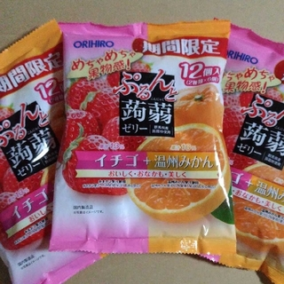 オリヒロ(ORIHIRO)のぷるんと蒟蒻ゼリー 12個入り 3袋 ダイエット ゼリー(菓子/デザート)