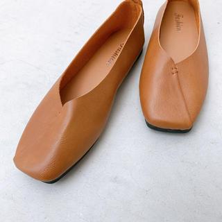 トゥデイフル(TODAYFUL)のbasic ballet shoes / brown 39(バレエシューズ)