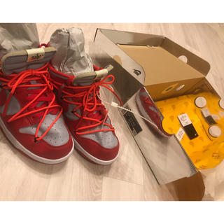 OFF-WHITE - NIKE DUNK LOW LTHR/OW US10.5