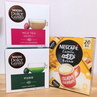 Nestle - ネスカフェ セット ミルクティー 宇治抹茶 ふわラテキャラメル