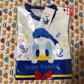 ディズニー(Disney)のドナルド♡ロンパース半袖♡90(その他)