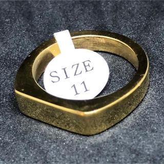 ゴールド 色 印台 ステンレス指輪 バカ売れ メンズ リング(リング(指輪))