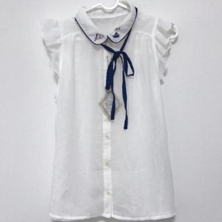 新品 マリン風 トップス(カットソー(半袖/袖なし))