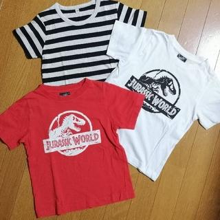 ジーユー(GU)の半袖Tシャツ3枚 男の子110(中古品)(Tシャツ/カットソー)