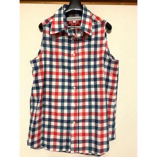 インディヴィジュアライズドシャツ(INDIVIDUALIZED SHIRTS)の☆美品 INDIVIDUALIZED SHIRTSのノースリーブシャツ 15(シャツ/ブラウス(半袖/袖なし))