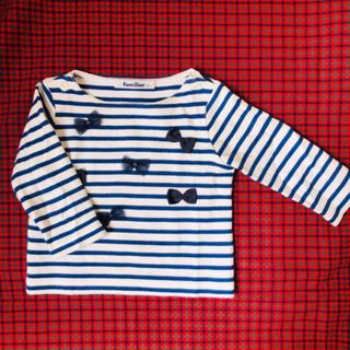 ファミリア(familiar)のファミリア  ボーダー ロンT 80㎝ (Tシャツ)