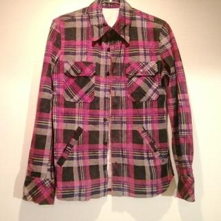 イサムカタヤマバックラッシュ(ISAMUKATAYAMA BACKLASH)のBACK LASH オールレザー ネルシャツ(シャツ)