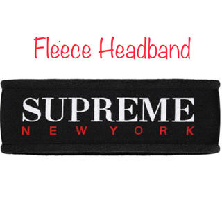 新品 黒 fleece headband supreme 2016AW