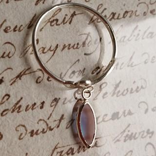 アンティーク フロスト サフィレット SV925 銀製 揺れる リング 指輪(リング(指輪))
