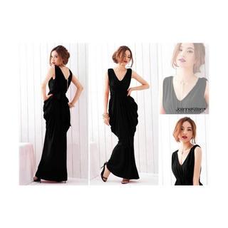ザラ(ZARA)のjoannekitten ロングドレス ブラック インポート(ロングドレス)