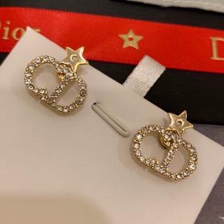 Dior - Dior 星クリスタル ピアス ゴールド