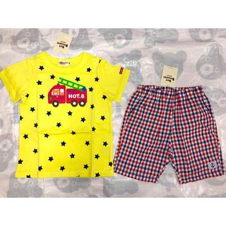 ホットビスケッツ(HOT BISCUITS)の新品タグ付き ミキハウス ホットビスケッツ 半袖Tシャツ ハーフパンツ 100(Tシャツ/カットソー)