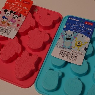 ディズニー(Disney)の♢2点♢ ダイソー ディズニー シリコーン チョコレートモールド(調理道具/製菓道具)