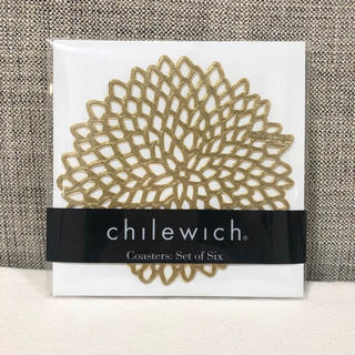 イデー(IDEE)のchilewich チルウィッチ コースター DAHLIA ダリア 4枚セット(テーブル用品)
