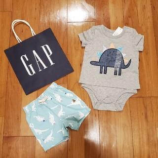 ベビーギャップ(babyGAP)の70 ロンパース一体型トップス&ショートパンツ②(ロンパース)