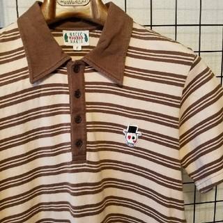ワコマリア(WACKO MARIA)の日本製 WAKCO MARIA ワンポイント刺繍入り ボーダー柄半袖ポロシャツ(ポロシャツ)