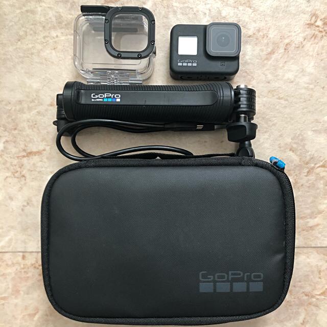 GoPro(ゴープロ)のGoPro HERO8 別売オプション付き スマホ/家電/カメラのカメラ(コンパクトデジタルカメラ)の商品写真