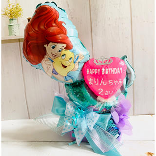 ディズニー(Disney)のおめでとう プリンセスアリエル バルーンギフト 誕生日 プレゼント バルーン(その他)