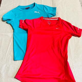 ナイキ(NIKE)のレディース プーマ ナイキ Tシャツ 2枚セット(ウォーキング)