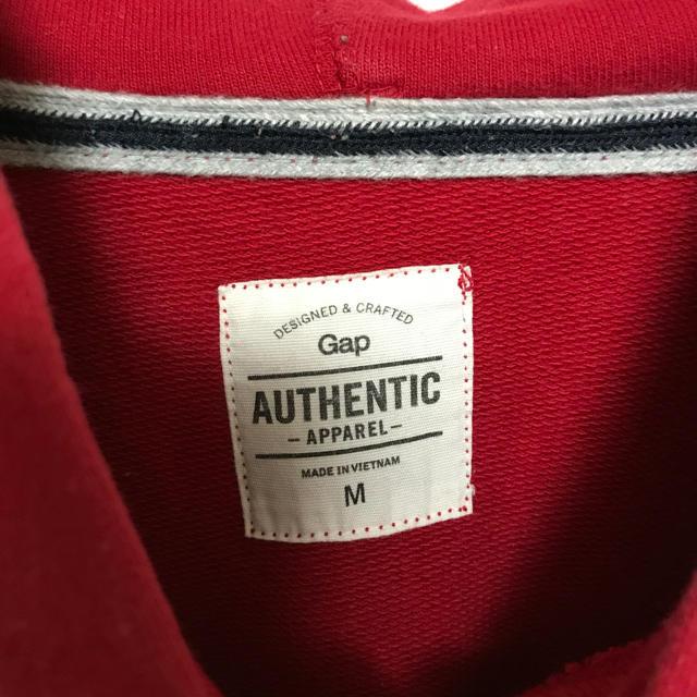 GAP(ギャップ)のGAP パーカー ギャップ 赤 スウェット メンズ レッド メンズのトップス(パーカー)の商品写真