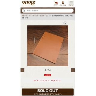 ヘルツ(HERZ)のHERZ ヘルツ 本革のファイル(バッグパック/リュック)