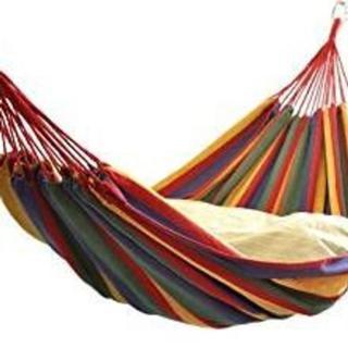 【激安◆人気】ハンモック 2人用 ダブルサイズ 屋外・室内兼用(寝袋/寝具)