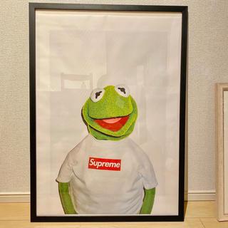 supreme キャンバスポスター Kermit  50×70cm(絵画/タペストリー)