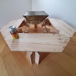 残り1台!! 囲炉裏テーブル コンロセット(アウトドアテーブル)