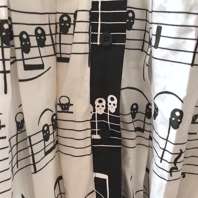 UNDERCOVER(アンダーカバー)の【希少】Daniel Palillo ☠️ ビッグシャツ ワンピース レディースのワンピース(ミニワンピース)の商品写真