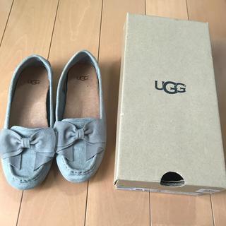 UGG - UGGモカシンシューズ リボン グレー
