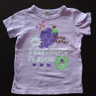 ホットビスケッツ(HOT BISCUITS)の☆ホッビスケッツ☆キャビちゃんフルーツTシャツ 100センチ パープル 美品🎵(Tシャツ/カットソー)