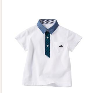 ファミリア(familiar)のファミリア ファミリアチェックポロシャツ 100センチ(ブラウス)