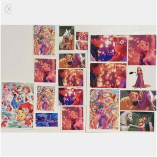 ディズニー(Disney)の今日のみ価格 ラプンツェル&ジャスミン&アリエル 19点ステッカーおまけつき(ステッカー(シール))