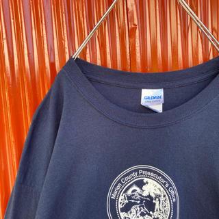 ギルタン(GILDAN)の☆USA輸入古着☆ギルダン☆両面プリント☆ロングスリーブT☆アームプリント(Tシャツ/カットソー(七分/長袖))