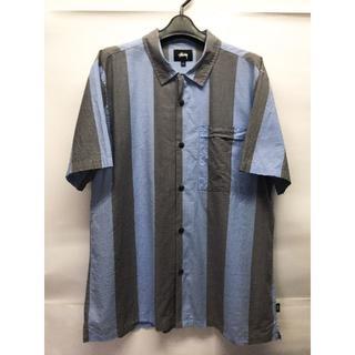 STUSSY - STUSSY S/S コットンシャツ ステューシー 半袖 シャツ L ストライプ