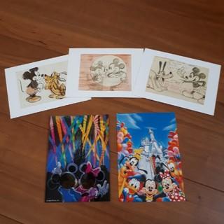 ディズニー(Disney)のディズニー ポストカード 5枚セット(写真/ポストカード)