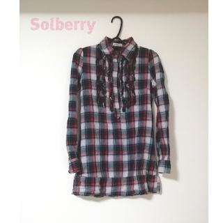 ソルベリー(Solberry)のSolberry チェックシャツ シャツワンピース(シャツ/ブラウス(長袖/七分))