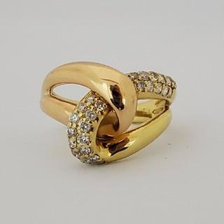 イエローとピンクゴールドのダイヤモンドリング(リング(指輪))