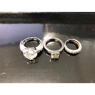 フォリフォリ(Folli Follie)のスワロフスキー フォリフォリ リング 指輪 3点セット 送料込¥2,900(リング(指輪))