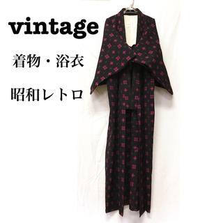 グリモワール(Grimoire)の美品【 vintage 着物 】 アンティーク着物 羽織り 昭和レトロ 着物(着物)