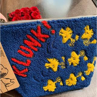 ピーナッツ(PEANUTS)のスヌーピー サガラ刺繍コスメポーチ ピーナッツKLUNK(ポーチ)