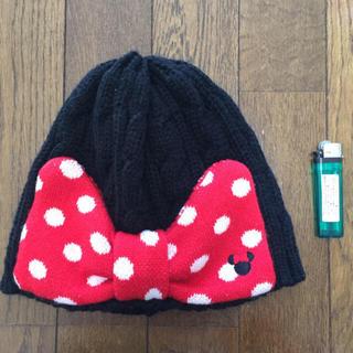 ディズニー(Disney)のニット帽 ミニー リボン(ニット帽/ビーニー)