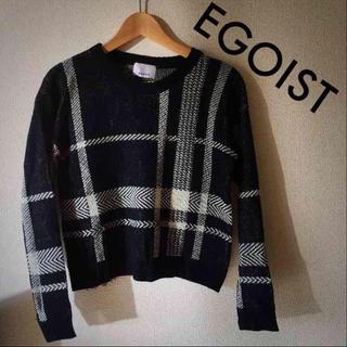 エゴイスト(EGOIST)のEGOIST  チェック  ニット(ニット/セーター)