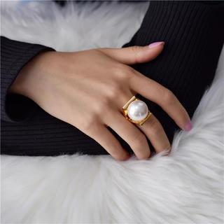 リリーブラウン(Lily Brown)のパールリング(リング(指輪))