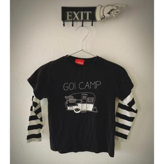 フリークスストア(FREAK'S STORE)の重ね着風☆おしゃれボーダ長袖カットソー120サイズ(Tシャツ/カットソー)