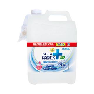 アースセイヤク(アース製薬)のらくハピ アルコール除菌EX [詰め替え用 5L] 2個(アルコールグッズ)