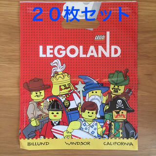 レゴ(Lego)のショップバッグ LEGOLAND 20枚セット(ショップ袋)