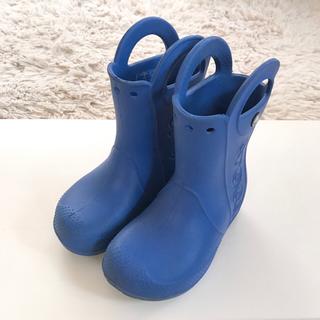クロックス(crocs)のクロックスの長靴 レインブーツ ブルー 16.5cm(長靴/レインシューズ)