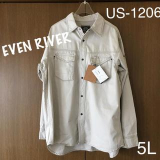 イーブンリバー(EVEN RIVER)の☆新品タグ付き イーブンリバー ミリタリーシャツ 5L(シャツ)
